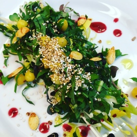 Mixed Dandelion Greens Salad